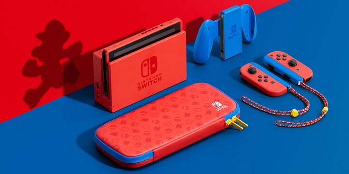Newsbild zu Nintendo Switch in der Mario-Edition (rot & blau) erscheint am 12. Februar