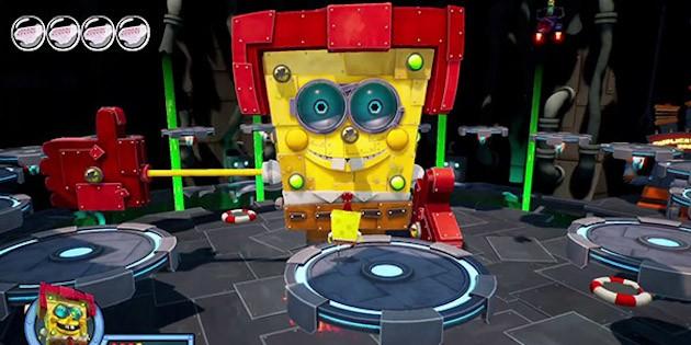 Newsbild zu Neuer Bosskampf-Trailer zu  SpongeBob Schwammkopf: Battle for Bikini Bottom - Rehydrated veröffentlicht