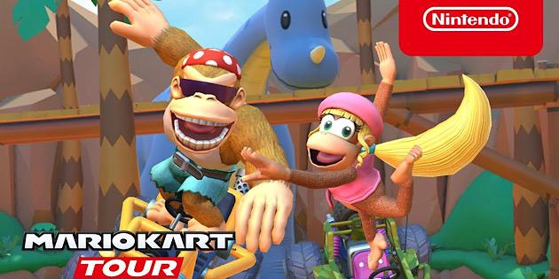 Newsbild zu Was ein Affenzirkus: Die Dschungel-Tour-Saison startet heute in Mario Kart Tour
