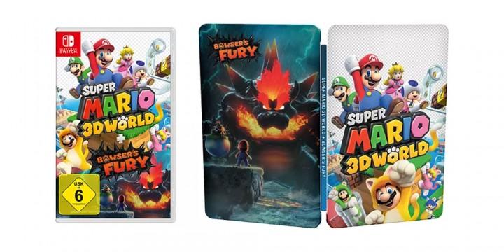 Newsbild zu Steelbook zu Super Mario 3D World + Bowser's Fury in Deutschland für Vorbesteller bei MediaMarkt und Saturn erhältlich