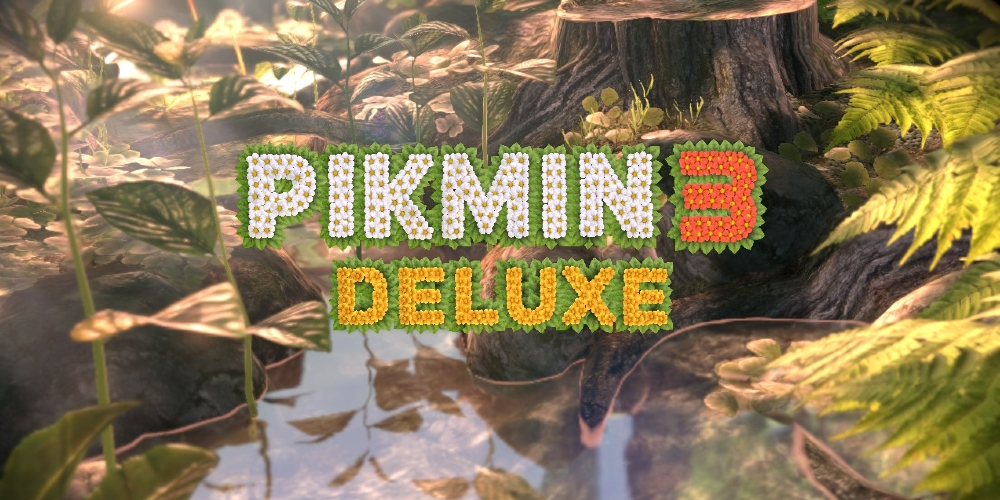 Pikmin 3 Deluxe (Titelbildschirm)