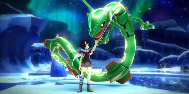 Newsbild zu Legendäres Rayquaza und Meteoranerin Amalia geben sich in Pokémon Masters die Ehre