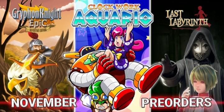 Newsbild zu Drei Jahre Strictly Limited Games – Publisher feiert Jubiläum mit Clockwork Aquario und weiteren Veröffentlichungen