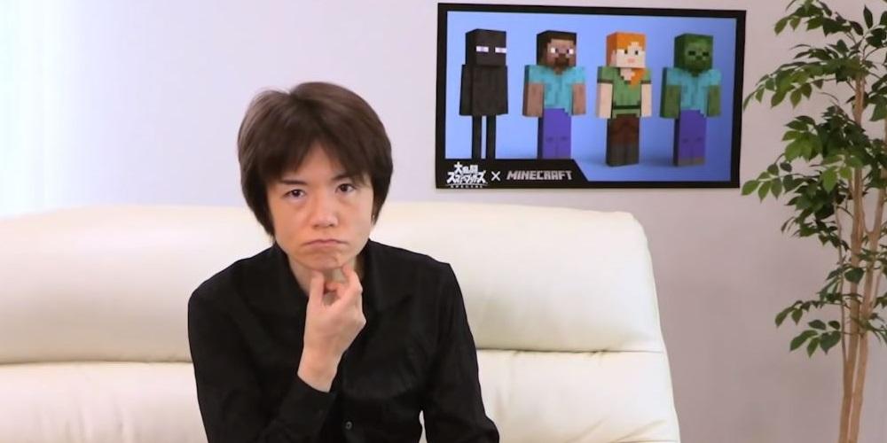 Masahiro Sakurai Minecraft Steve Super Smash Bros. Ultimate