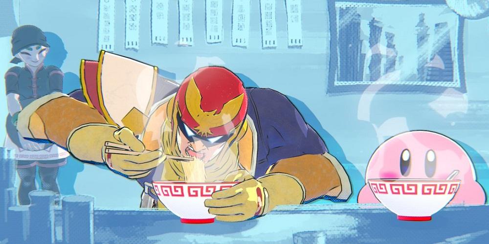 Super Smash Bros. Ultimate Captain Falcon Min Min Ramen