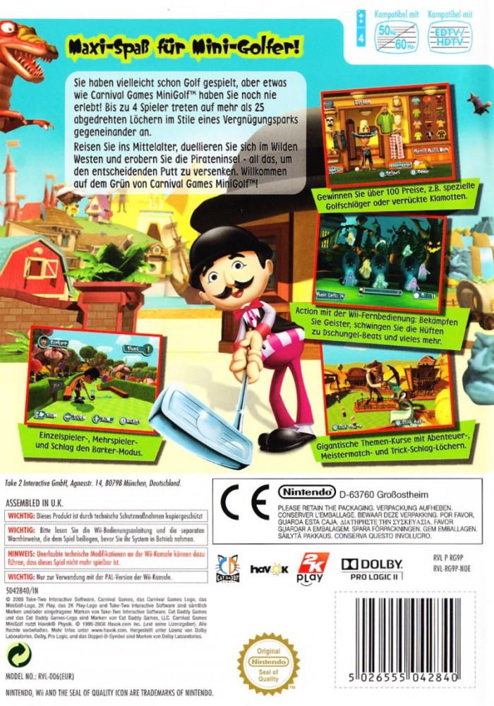 Carnival Games Mini Golf Angespielt Wii Ntower