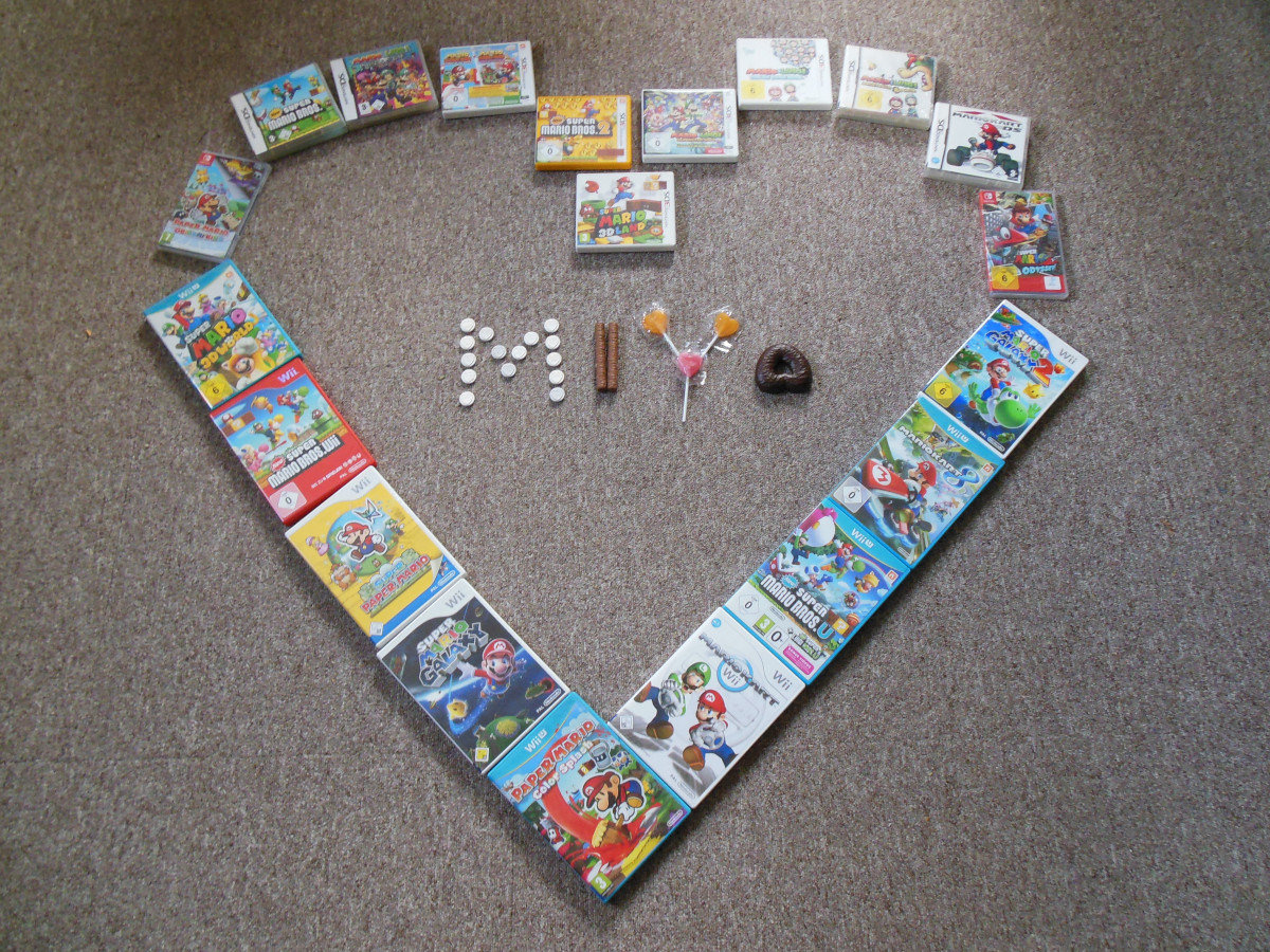 Mario-Spiele-Strecke
