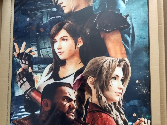 Final Fantasy VII Remake Metal Poster