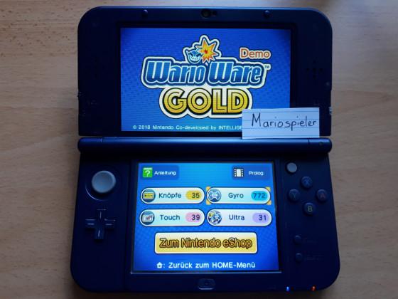 Wario Ware Gold Gewinnspiel Kategorie 1