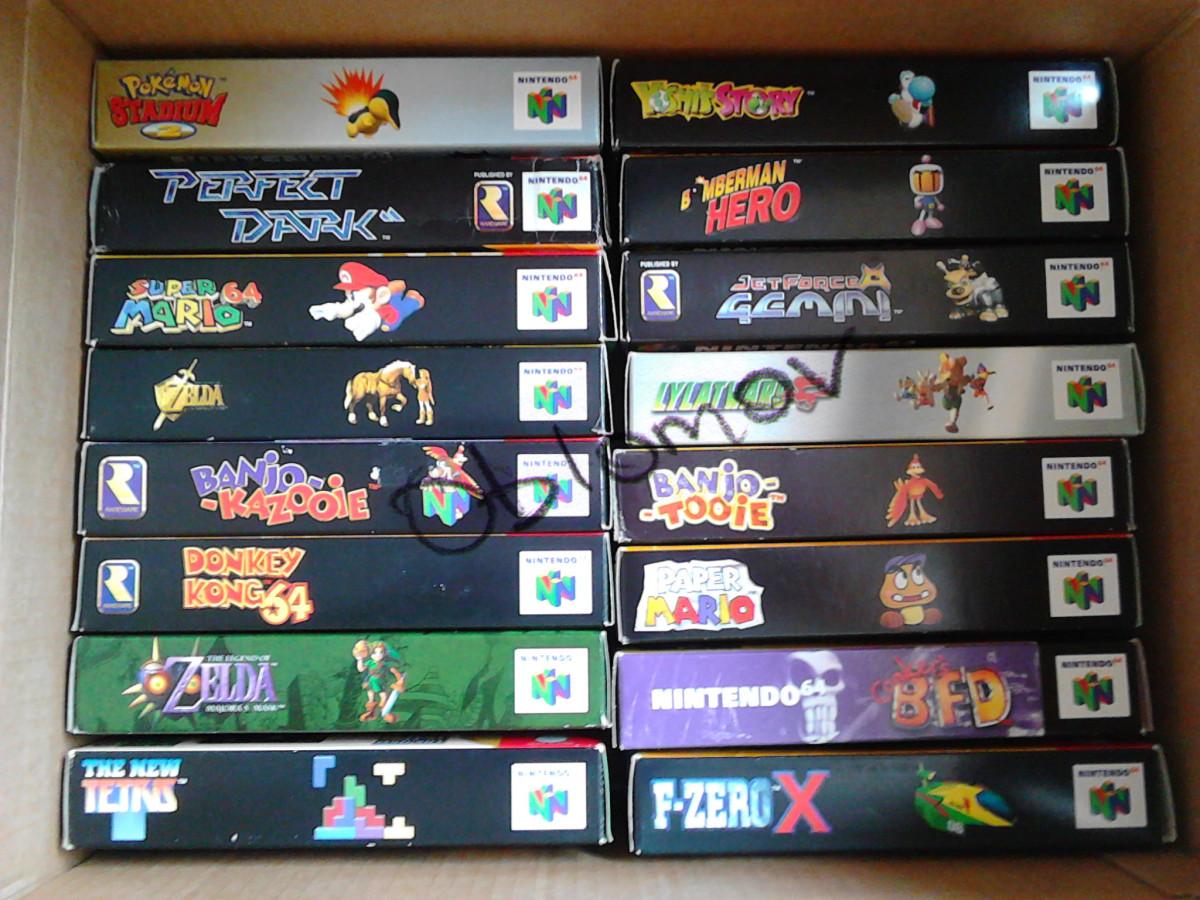 Ein Teil meiner N64-Sammlung