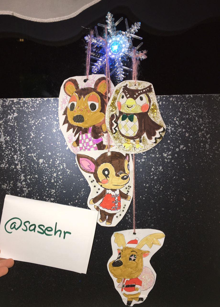 weihnachtsdeko animal crossing