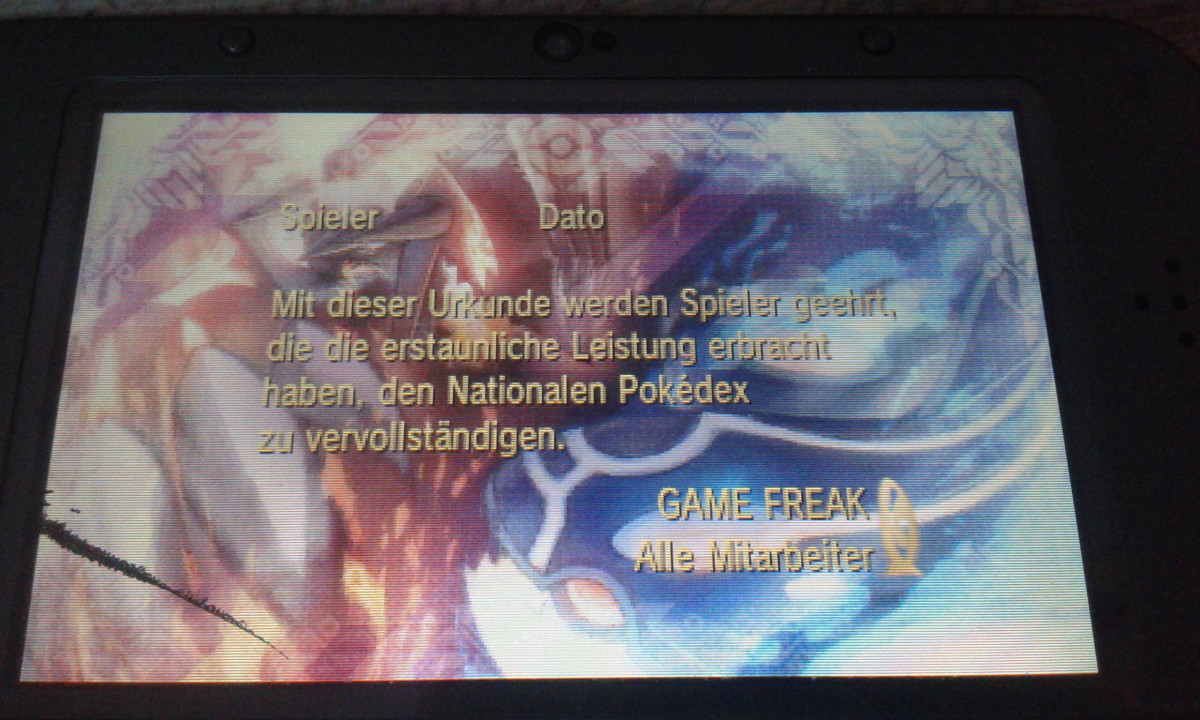 Pokemon Oras-Voller Nationaldex
