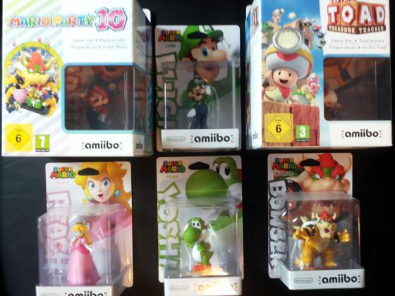 Mario Party 10 amiibo Edition + Captain Toad Treasure Tracker amiibo Edition + Super Mario Collection