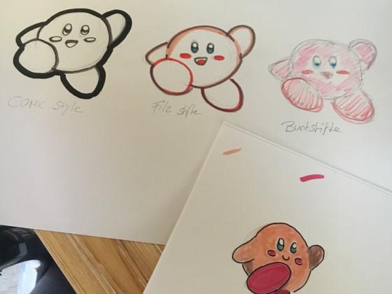 Kirby Zeichnungsstil