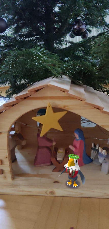 Apollo besucht das Christkind