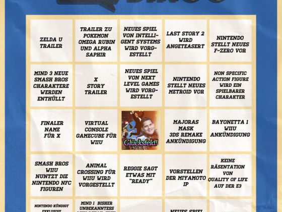E3 Bingo