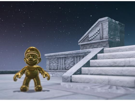 Odyssey Mario sieht aus wie ne Statue