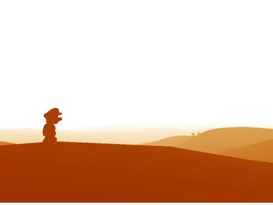 Mario im Wüstenland