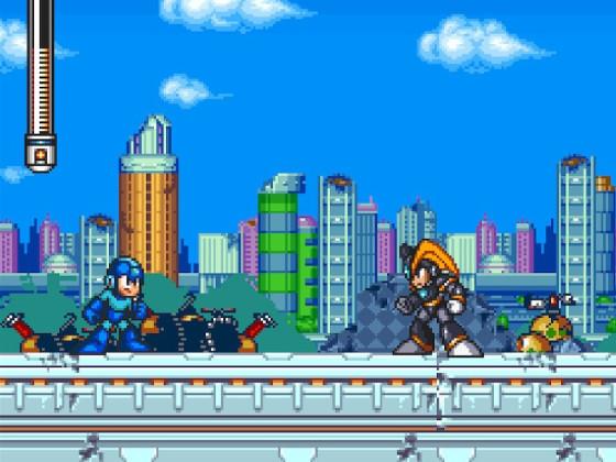 Mega Man 7 1. Treffen mit Bass