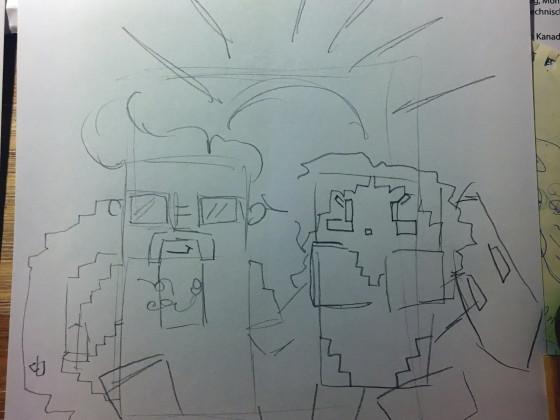 Touryst Zeichnung für Gewinnspiel (SKIZZE 1)