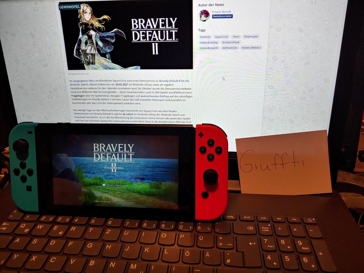 Bravely Default II Final Demo Gruffti Bild