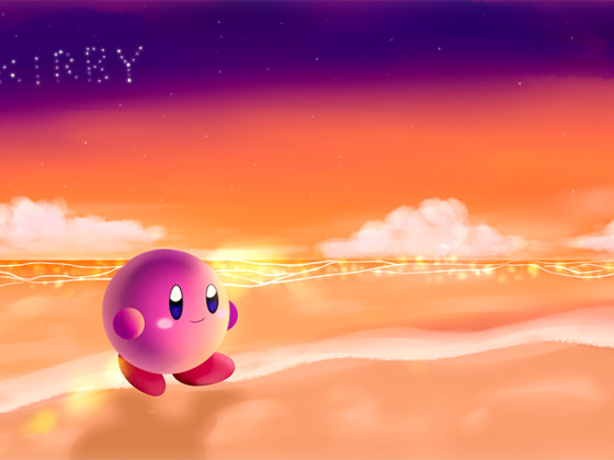 Let's go to the beach ~ Kirby!! ♪