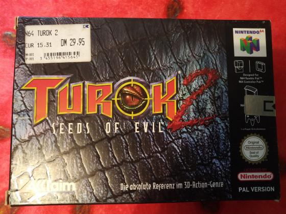 Turok 2 N64 Box