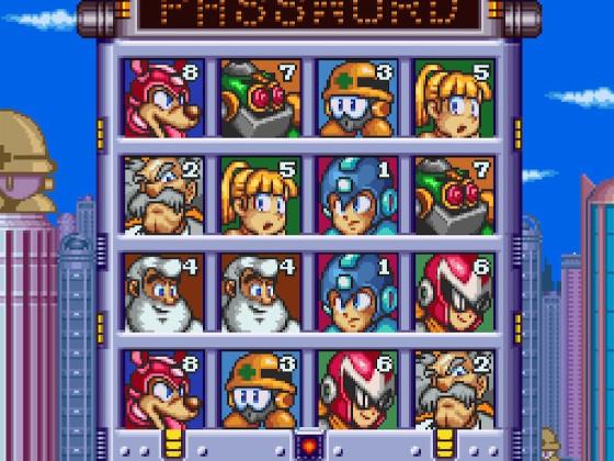Mega Man 7 Passwort