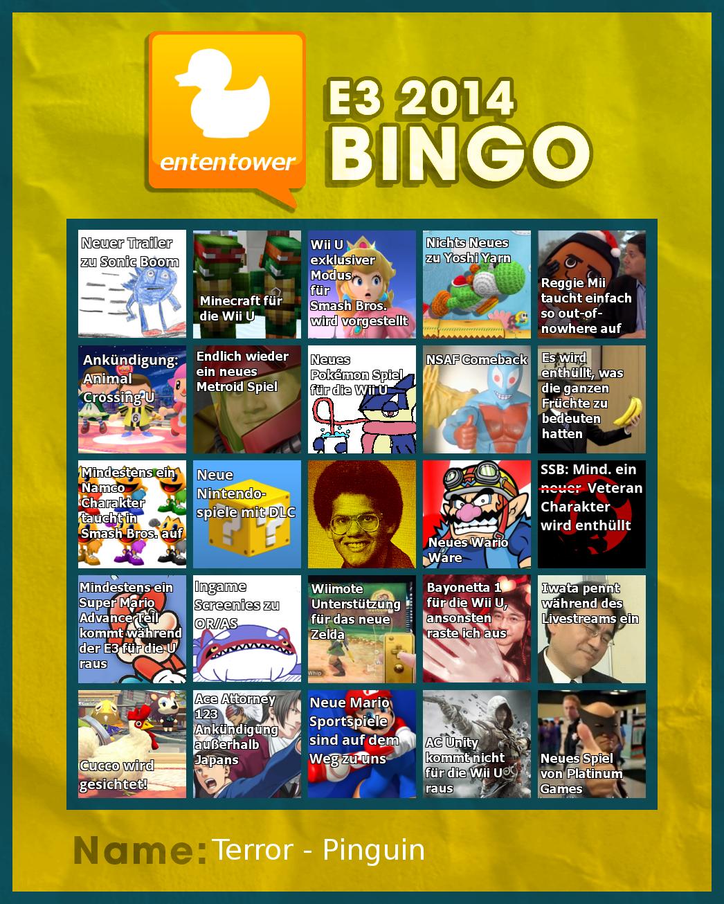 Ententower Bingo - 2014