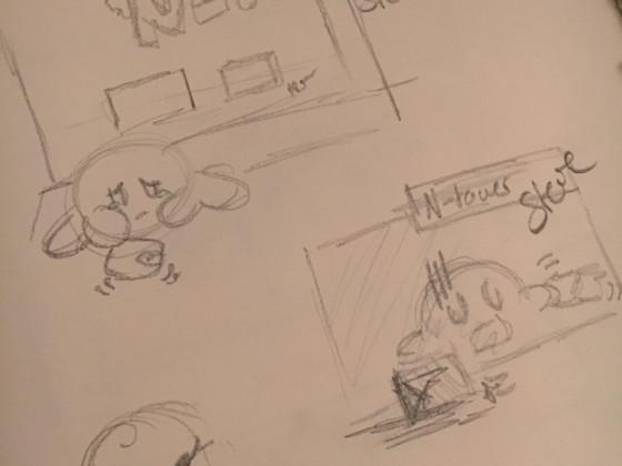 Kirby Comic erste Skizze