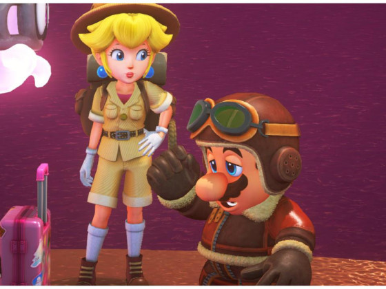 Mario Odyssey - Peach & Mario @ Holiday