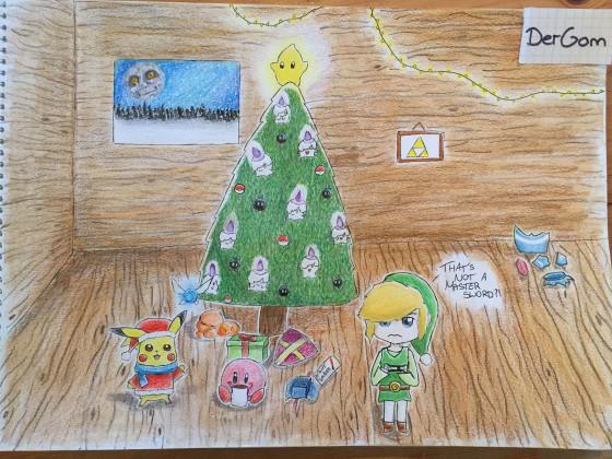 DerGom_NTower_Weihnachtsbild_Zelda