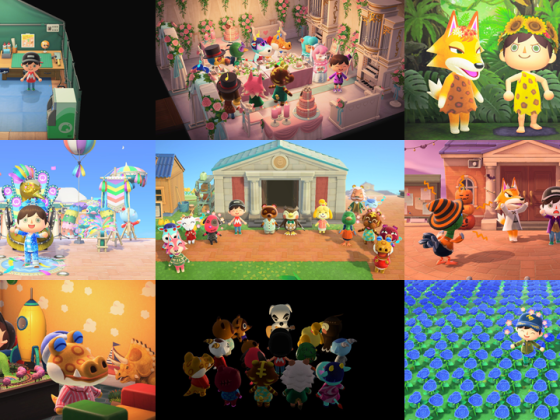 Animal Crossing Collage