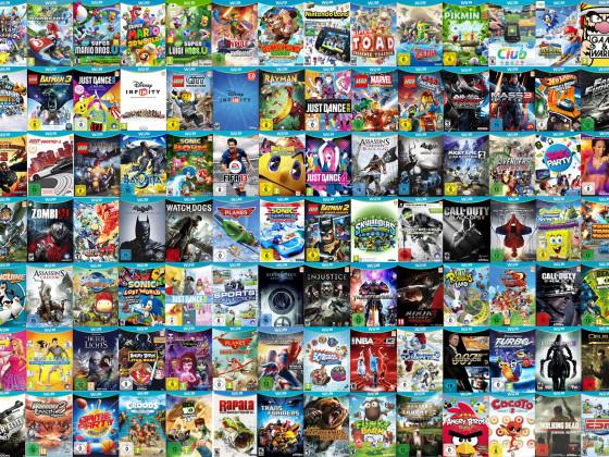 Alle veröffentlichten Wii U Spiele